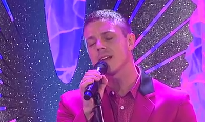 EXCLUSIVE: Jake Shears Sings For Anderson Cooper at GLAAD Media Awards