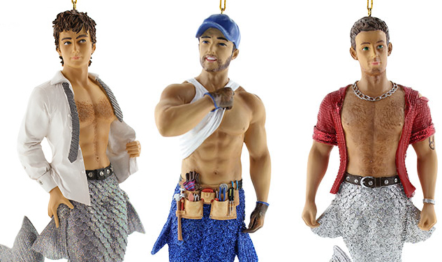 Decorate Your Christmas Tree With Shirtless Mermen Ornaments