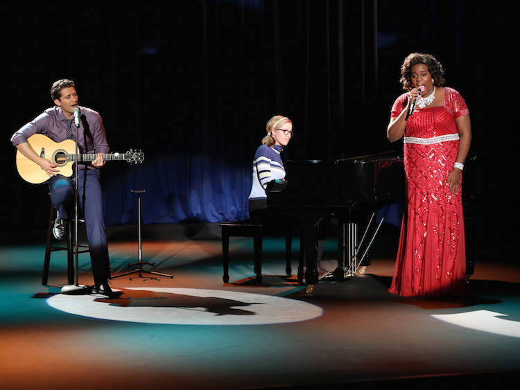 """Alex Newell performs in the \""""Transitioning\"""" episode of GLEE airing Friday, Feb. 13"""