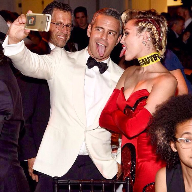 Andy Cohen & Miley Cyrus