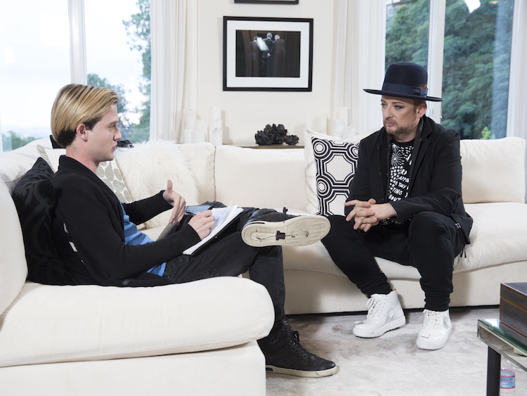 Tyler Henry with Boy George