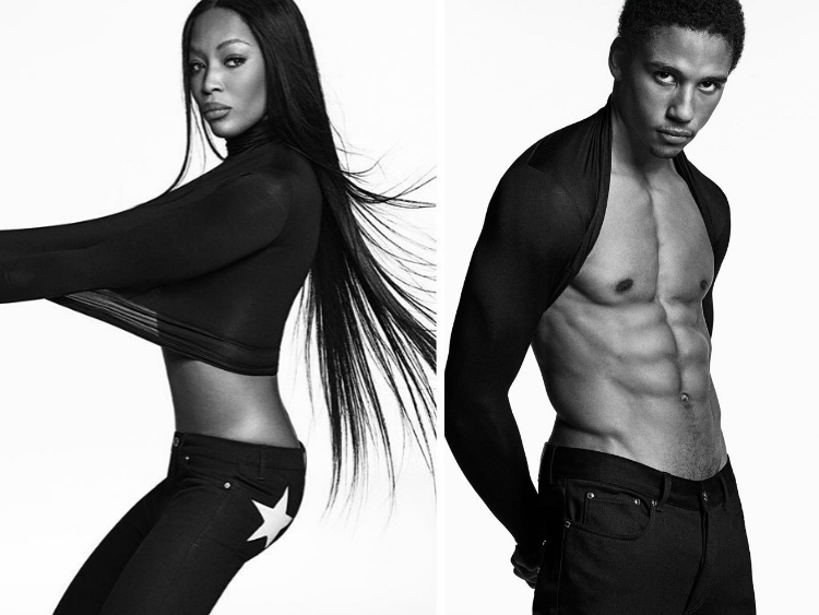 Naomi Campbell Justin Levy Givenchy Jeans