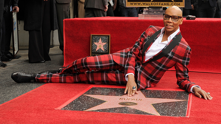 RuPaul Is the First Drag Queen With a Star On the Hollywood Walk Of Fame