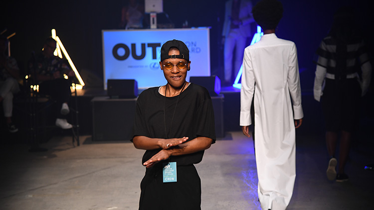 Kris Harring at the OUT Fashion Vanguard Awards