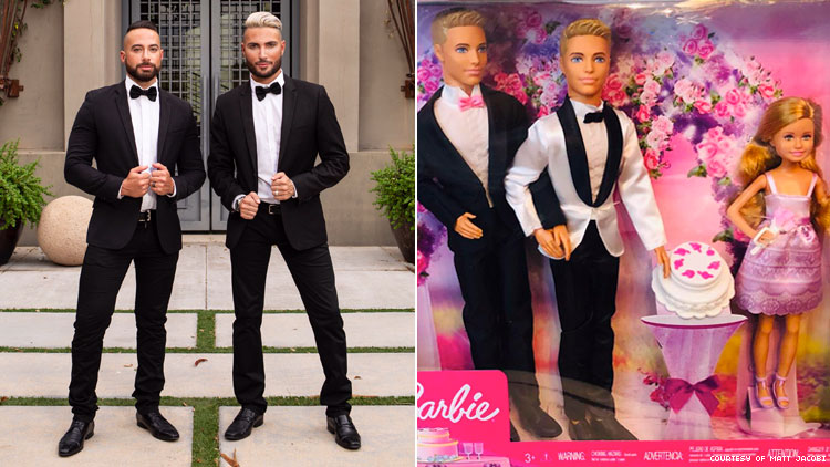 Gay Uncles Catch Mattel's Attention with Their DIY Barbie Wedding Set