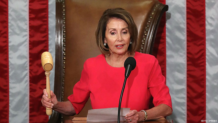 Speaker of the House Nancy Pelosi promises to pass Equality Act to protect LGBTQ people.