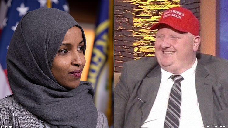 Eric Porterfield of West Virginia and Ilhan Omar of Minnesota: Only one should resign.