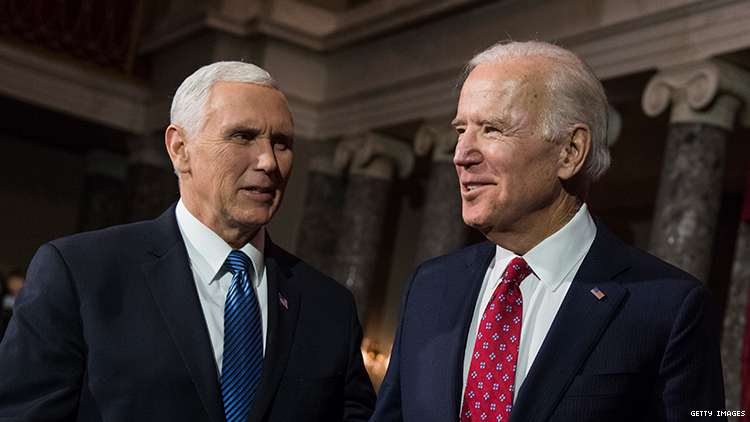 "Joe Biden called anti-LGBTQ+ Vice President Mike Pence ""a decent guy."""