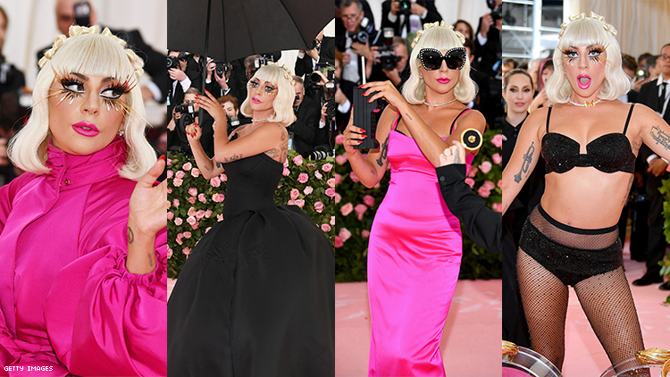 Lady Gaga Just Staged Three Reveals on the Met Gala Red Carpet