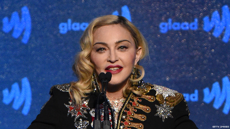 Madonna wins GLAAD Media Award for Advocate for Change: Watch the video.