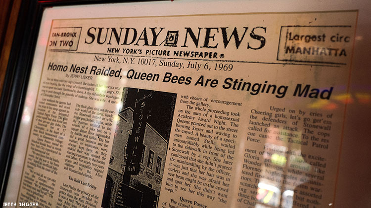New York Daily News coverage of the Stonewall Riots