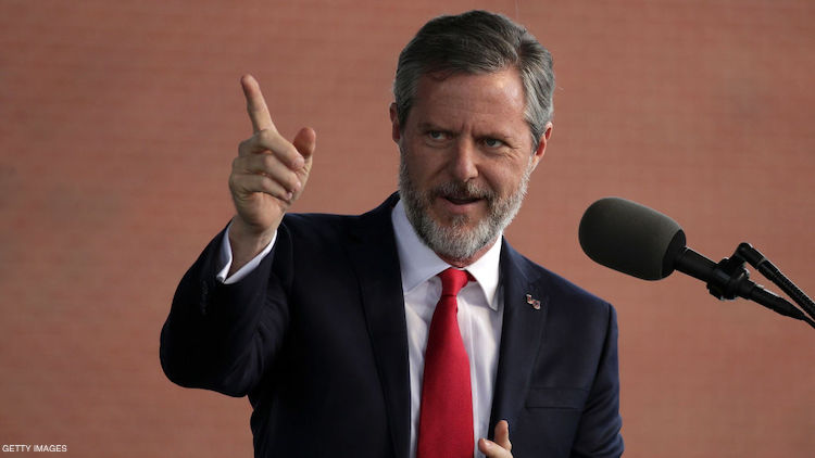 Jerry Falwell's Son Can't Stop Bragging About His Package