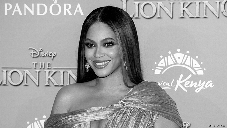 Beyonce on a red carpet.