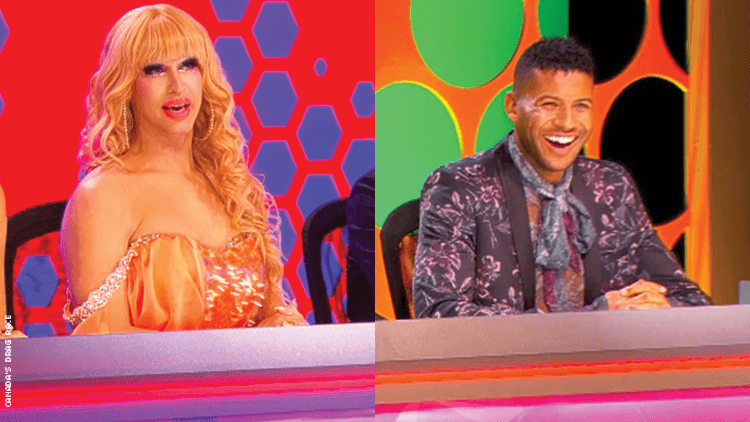 Brooke Lynn Hytes and Jeffrey Bowyer-Chapman on Canada's Drag Race