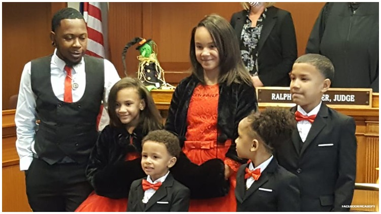 Robert Carter reunites five brothers and sisters in foster care when he adopts all five.