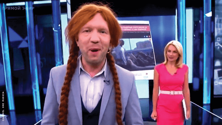Russian TV Hosts, Guests Mock Out Olympians With Wigs, Slurs