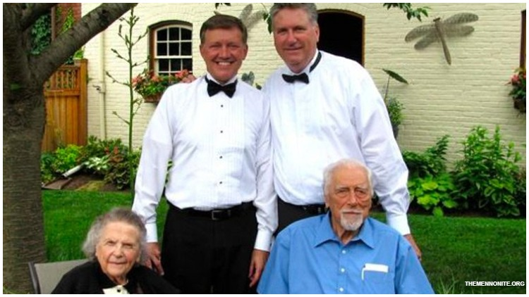 Charles Wenger dies at the age of 102. The former minister was stripped of his credentials by the Mennonite church after officiating the marriage of his gay son.