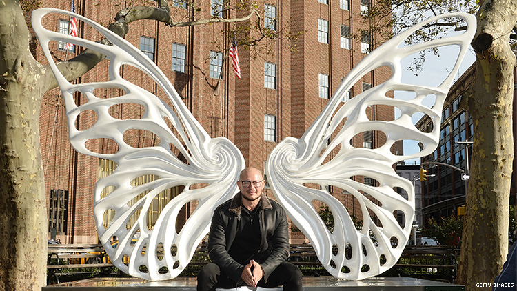 This New Sculpture Honors Trans People by Giving Them Wings