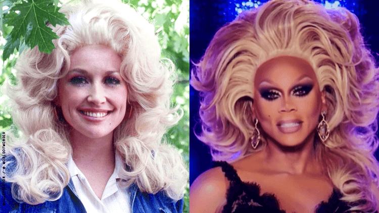 RuPaul and Dolly Parton Take Over Salon Wall in New Mural