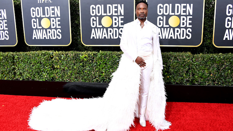 Billy Porter on the red carpet for the Golden Globes.