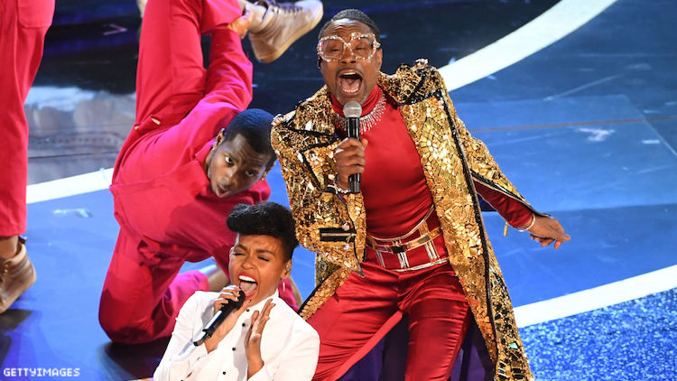 Janelle Monae and BIlly Porter performing at the Oscars.