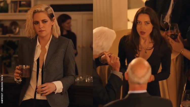 Kristen Stewart and Aubrey Plaza in Happiest Season