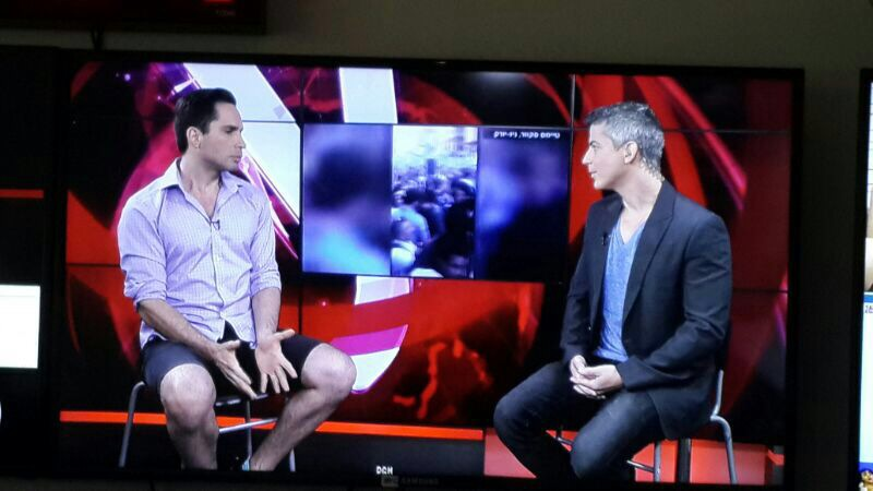 Giving An Interview To Ynet. Largest News Source Website In Israel