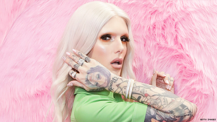 Jeffree Star in a promo image from Jeffree Star Cosmetics.