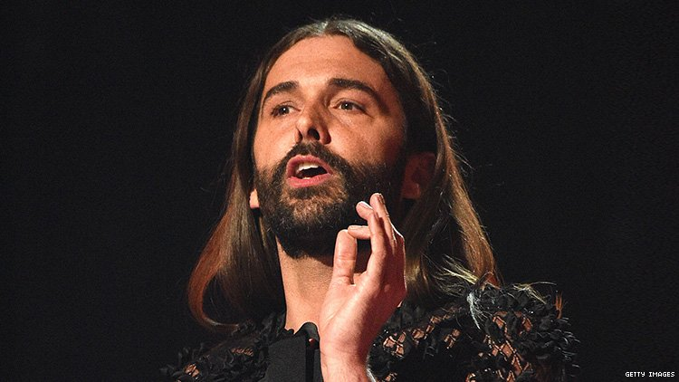 Jonathan Van Ness giving a speech.
