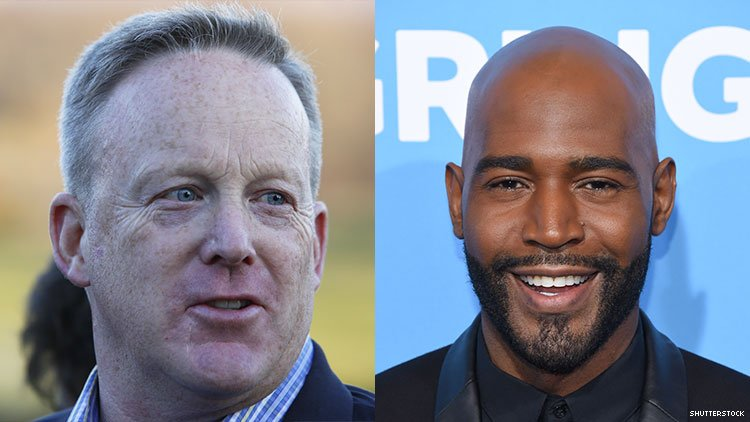 karamo brown queer eye sean spicer friend friends dancing with the stars white house press secretary donald trump administration homophobic transphobic lgbt lgbtq controversy backlash twitter gay