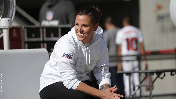 Katie Sowers, the first out coach in the NFL, is opening doors for others to follow.