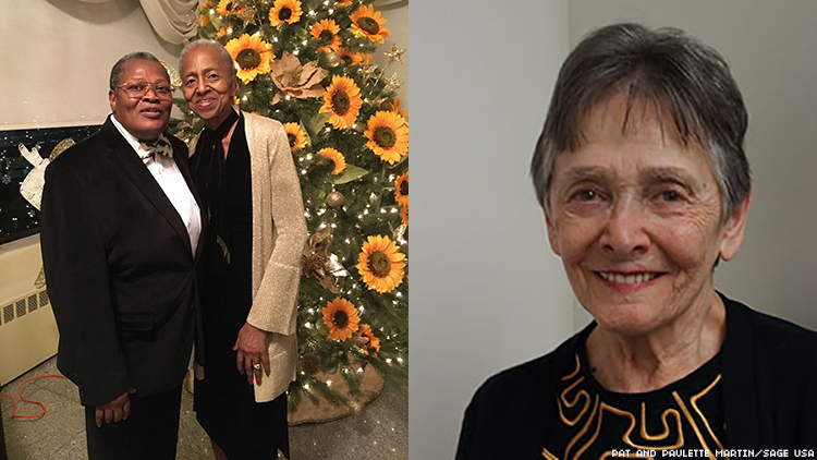 LGBTQ+ seniors Ellen Ensig-Brodsky and couple Pat and Paulette Martin are not letting the COVID-19 lockdown keep them from enjoying life
