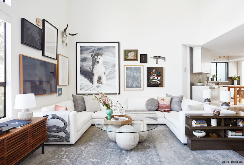 Gus Kensworthy's art-filled home.