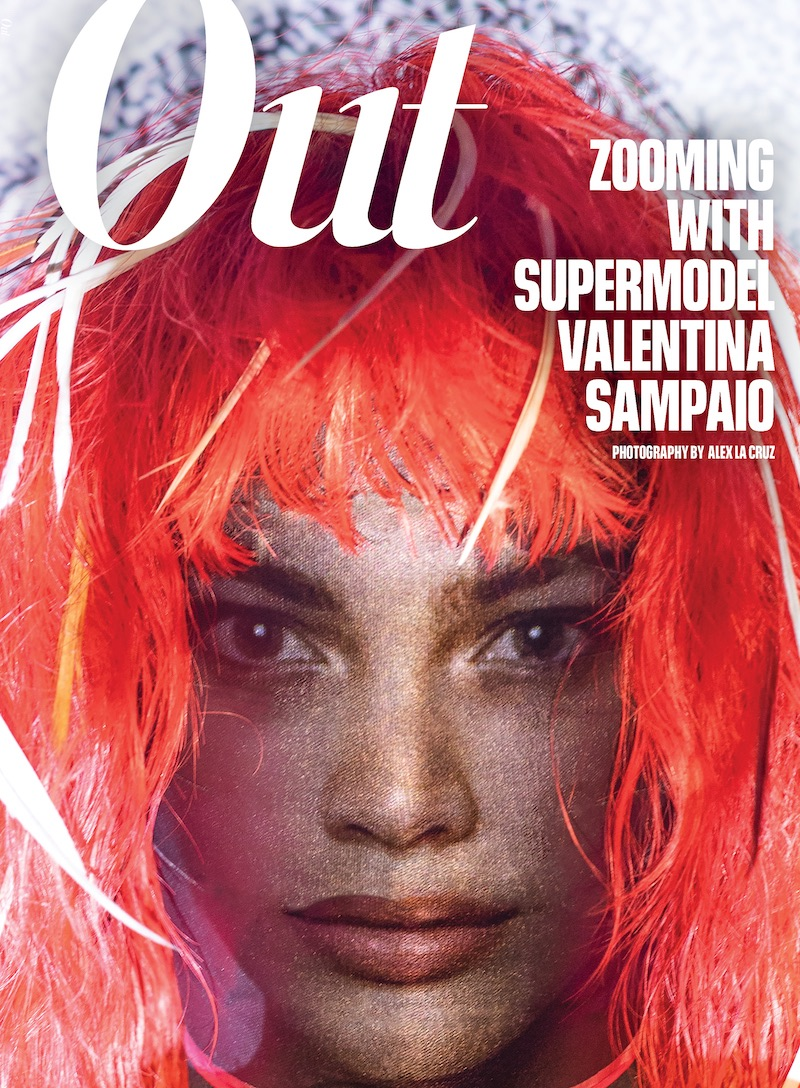 Valentina Sampaio on the cover of Out Magazine