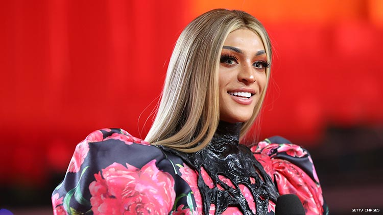 Pabllo Vittar at the MTV Europe Music Awards.