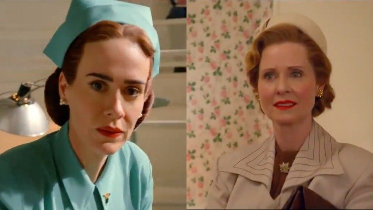 """Sarah Paulson and Cynthia Nixon reveal they were cast in """"Ratched"""" because Ryan Murphy felt it was important to have """"two queer women playing two queer women."""""""