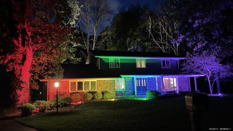Homeowner Puts on Rainbow Light Show After HOA Says No To Pride Flags