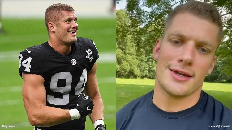 NFL Lineman Carl Nassib Holds First Press Conference Since Coming Out