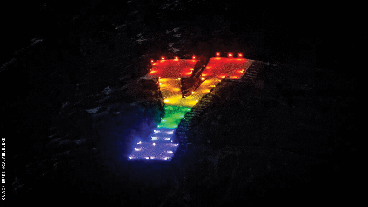 LGBTQ+ Students at BYU Light Up School's Famed 'Y' in Rainbow Colors
