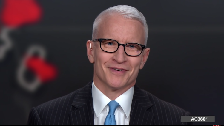 Anderson Cooper smiling on AC360