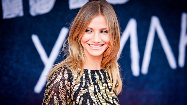 Cameron Diaz smiling on a red carpet