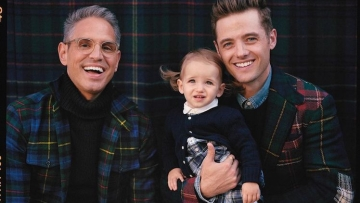 Robbie Rogers and Greg Berlanti in Ralph Lauren holiday ad.