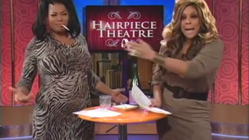 Queen Latifah and Wendy Williams in 'Hairpiece Theater'