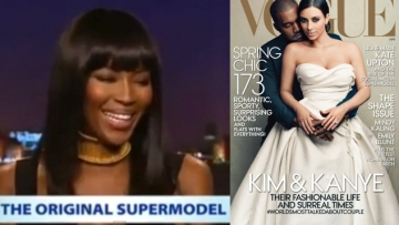 WATCH: Naomi Campbell Reacts To Kimye's Vogue Cover