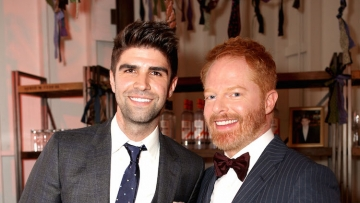 Jesse Tyler Ferguson and Justin Mikita at their shared birthday party