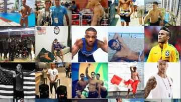 Hottest Olympic Athletes Collage