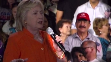 Father of Orlando Shooter Attends Hillary Clinton Rally in Florida