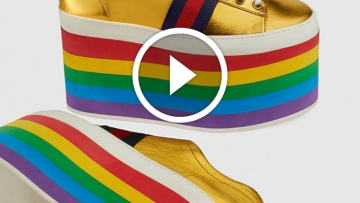 Rainbow-Themed Gucci Sneaks Take Pride Gear to New Heights