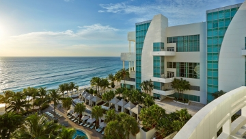 View of the beach and convention center from Diplomat Beach Resort. (Photo courtesy of Diplomat Beach Resort)