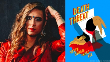 "Out interviews transgender writer and musician Vivek Shraya about new graphic novel ""Death Threat"" with illustrator Ness Lee."